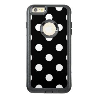 Schwarzweiss-Tupfen-Muster OtterBox iPhone 6/6s Plus Hülle
