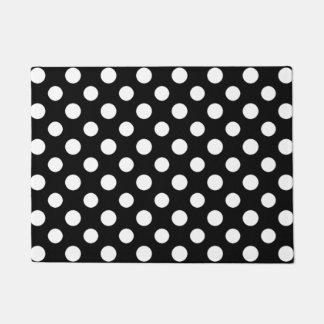 Schwarzweiss-Tupfen-Muster-Tür-Matte Doormat