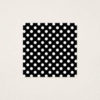 Schwarzweiss-Tupfen Quadratische Visitenkarte