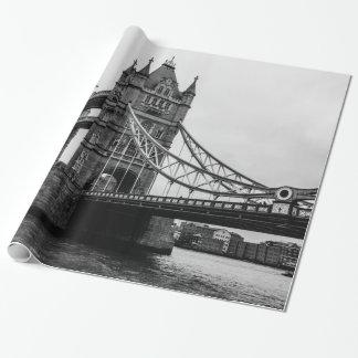 Schwarzweiss-Turm-Brücke, London Großbritannien Geschenkpapier