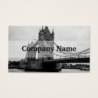 Schwarzweiss-Turm-Brücke, London Großbritannien Visitenkarte