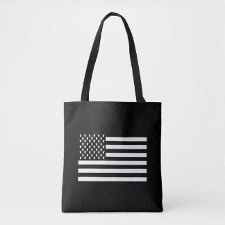 Schwarzweiss-US-Flagge Tasche