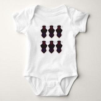 Schwarzweiss-Verzierungen Baby Strampler
