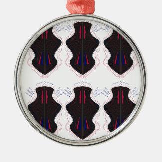 Schwarzweiss-Verzierungen Silbernes Ornament