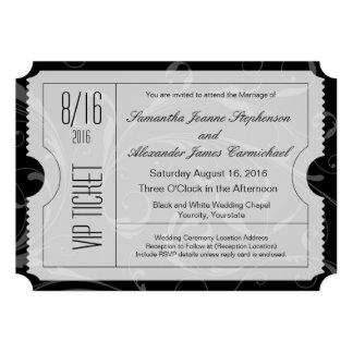 Schwarzweiss-VIP-Hochzeits-Karten-Einladungen