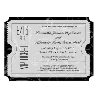 Schwarzweiss-VIP-Hochzeits-Karten-Einladungen 12,7 X 17,8 Cm Einladungskarte