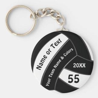 Schwarzweiss-Volleyball Keychains personalisiert Schlüsselanhänger