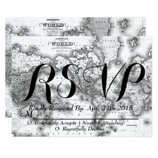 Schwarzweiss-WeltkarteWanderlust UAWG 2 Karte