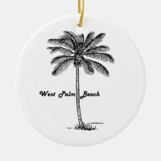 Schwarzweiss-West- Palm Beach u. Palmenentwurf Keramik Ornament