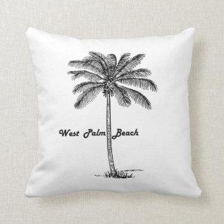 Schwarzweiss-West- Palm Beach u. Palmenentwurf Kissen