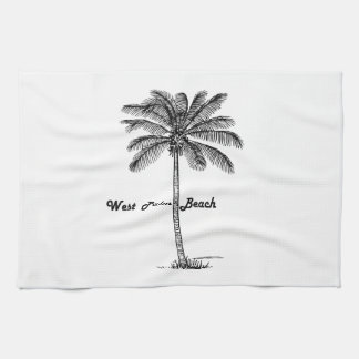 Schwarzweiss-West- Palm Beach u. Palmenentwurf Küchentuch