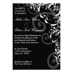 Schwarzweiss-Wirbel, der Einladung Wedding ist