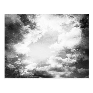 Schwarzweiss-Wolken-Licht Postkarte