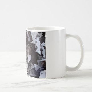 Schwarzweiss-Würfel Kaffeetasse
