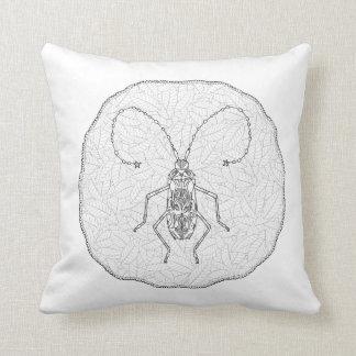 Schwarzweiss-Wurfs-Kissen mit Insekten-Entwurf Kissen