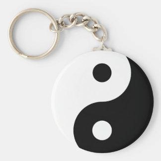 Schwarzweiss-Yin Yang Keychain Standard Runder Schlüsselanhänger