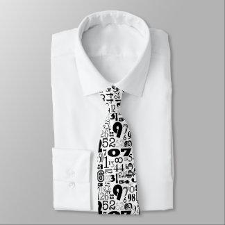 Schwarzweiss-Zahl-Krawatte Krawatte