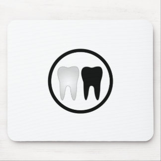 Schwarzweiss-Zahn Mousepad