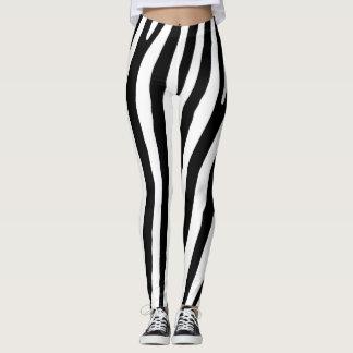 Schwarzweiss-Zebra-Druck-Muster Leggings