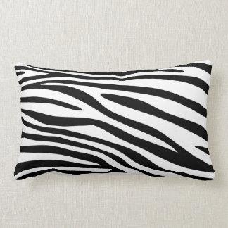 Schwarzweiss-Zebra-Druck-Pelz Lendenkissen