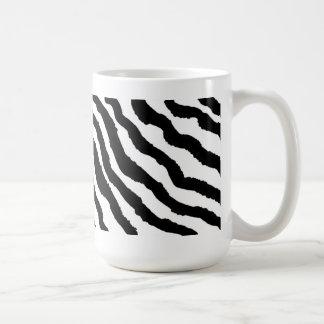Schwarzweiss-Zebra-Streifen Kaffeetasse