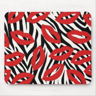 Schwarzweiss-Zebra Stripes rote Mauspad
