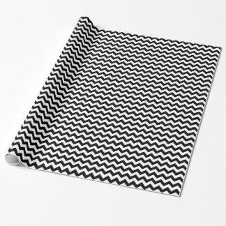 Schwarzweiss-Zickzack-Muster-Zickzack Kunst Geschenkpapier
