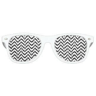 Schwarzweiss-Zickzack Stripes Zickzack Muster Sonnenbrille