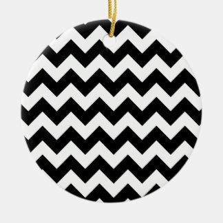 Schwarzweiss-Zickzack-Zickzack Muster Keramik Ornament