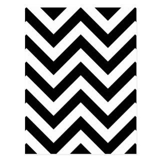 Schwarzweiss-Zickzack-Zickzack Muster Postkarte