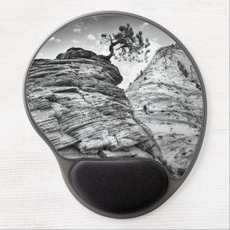 Schwarzweiss-Zion Bonsais-Baum-Foto Gel Mousepad