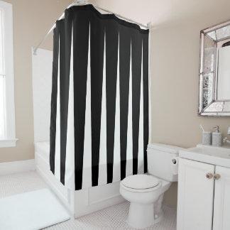 Schwarzweiss-zwei Ton-Falten-Illusion Duschvorhang