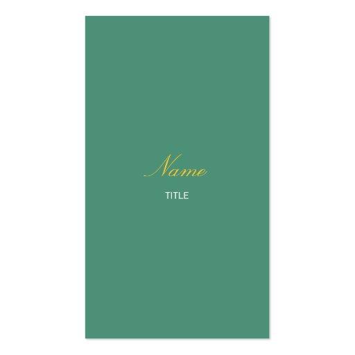Schwarzwurz Elegante Vertikale Visitenkarten