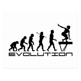 Schwebebalken-Gymnastik-Sport-Evolutions-Kunst Postkarte