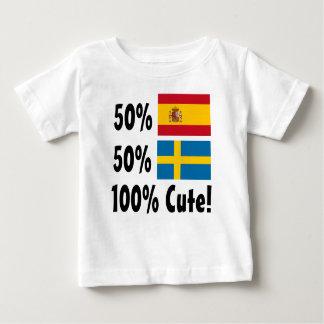 Schwede 100% 50% Spanisch-50% niedlich Baby T-shirt