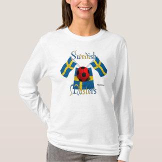 Schwede beherrscht Damen-langes Hülsen-Shirt T-Shirt
