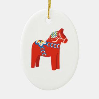 Schwede Dala Pferd Keramik Ornament
