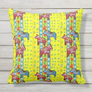 Schwede Dala Pferde Kissen Für Draußen