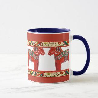 Schwede Dala Pferde mit Tasse