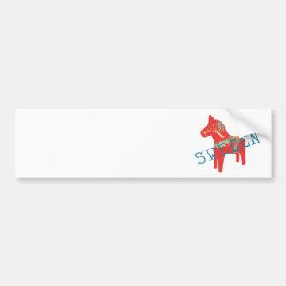 Schwede Dala Pferdegeschenke u. -grüße Autoaufkleber