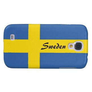 Schwede Flagge-Personifiziert Text Galaxy S4 Hülle
