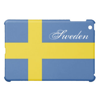 Schwede Flagge-Personifiziert Text iPad Mini Cover