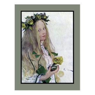 Schwede-Lucia-Mädchen Postkarte