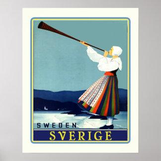 Schwede-Reise Sverige Poster