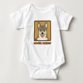 Schwede Vallhund Cartoon Baby Strampler