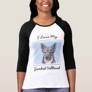 Schwede Vallhund Malerei - niedliche ursprüngliche T-Shirt