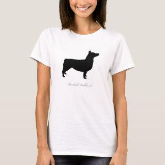 Schwede Vallhund T - Shirt (Schwarzes angekoppelt)