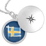 Schweden-Bürsten-Flagge Selbst Gestaltete Halskette