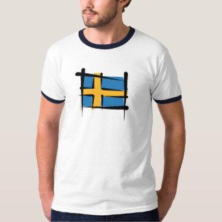 Schweden-Bürsten-Flagge T-Shirt