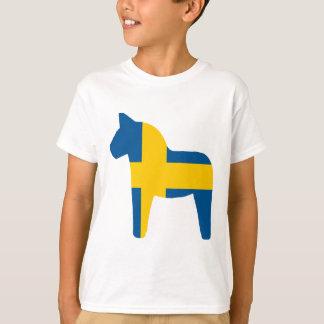 Schweden-Flagge Dala Pferd T-Shirt
